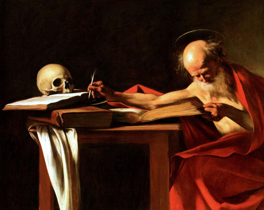 Saint Jérôme écrivant, Caravage