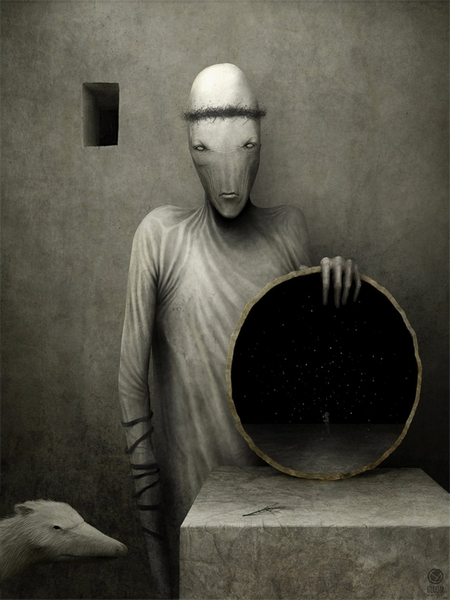 anton semenov digital painting peinture digitale analyse mirror of destiny